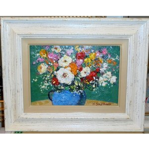 絵画 水彩画 加藤世紀 白い花 静物画 花 還暦祝い|dipint