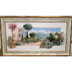 絵画 複製画 風景 ピーターモッツ 「ラーゴ ディ マッジョーレ1」 玄関 インテリア dipint
