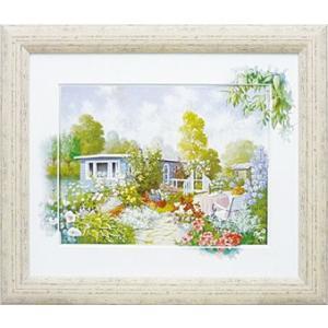 絵画 複製画 風景 ピーターモッツ 「ハウスボート」 玄関 インテリア 結婚祝い dipint