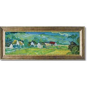 ゴッホ オーヴェールの美しい草原 名画絵画 インテリア 109cm×44cm|dipint