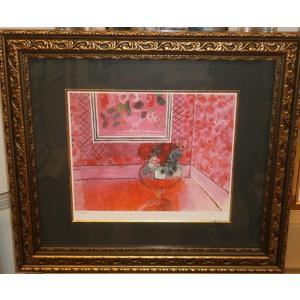 デュフィ バラ色の人生 名画絵画 ジグレ版画 47cm×54cm インテリア|dipint