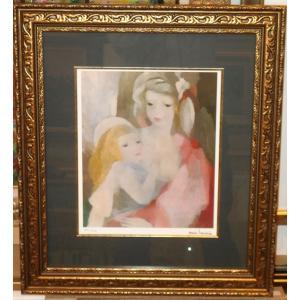 ローランサン 母と子 名画絵画 ジグレ版画 47cm×54cm インテリア|dipint