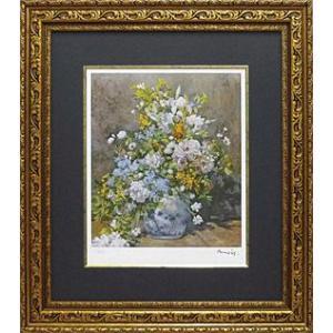 ルノワール 大きな花瓶の花 名画絵画 ジグレ版画...の商品画像