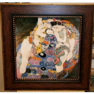 クリムト ザ・ヴァージン 名画 立体複製画 絵画 55cm×55cm インテリア 玄関|dipint