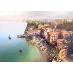 絵画 大型油絵 コルッチ 作 ソレント イタリア風景画 インテリア|dipint
