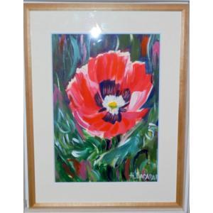 (定価35,000円)花の絵画 インテリア アクリル画 ナタリー(ウクライナ) 「花」 リビング 玄関 贈り物|dipint