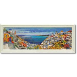 絵画 欧州風景 ルイージ フローリオ「サントリーニ」 モダン インテリア dipint