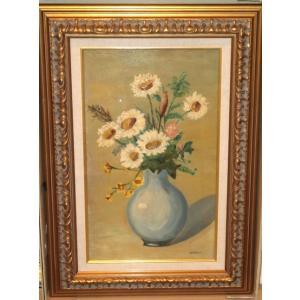 絵画 油絵 ペトリリ(イタリア) 「花」 静物 インテリア dipint