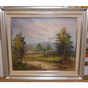 (定価38,000円)絵画・油絵 風景画 「ヨーロッパ・自然の風景」 10号|dipint