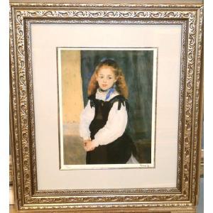 ルノワール ルグラン嬢の肖像 名画絵画 ジグレ版画 47cm×54cm インテリア|dipint