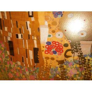クリムト ザ・キス シルクスクリーン版画 リビング インテリア絵画|dipint|06