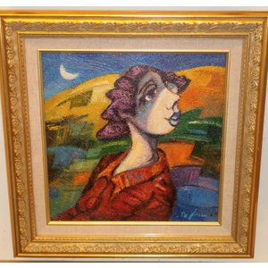 絵画 油絵 ディロレンツォ 「女性画」 人物 モダン インテリア|dipint