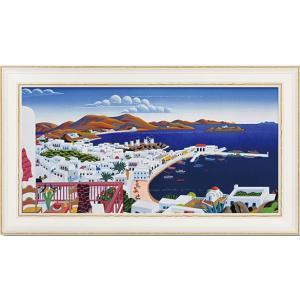 インテリア 絵画 トーマスマックナイト 「ミコノス」 風景 モダン dipint
