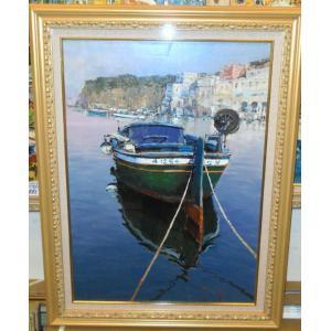 絵画 油絵 パトリシ Marina イタリア風景画 リビング|dipint