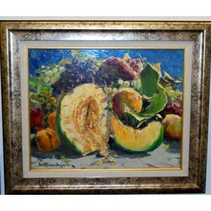 花の絵画 油絵 マルコ・トマ イタリア静物画 インテリア 新築祝い|dipint