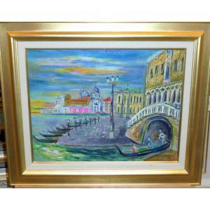 絵画 油絵 小澤勇寿郎 作 パリ・オペラの街角 6号サイズ インテリア|dipint