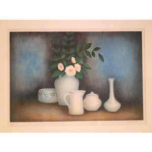 絵画 ラベルニア 「静物」 リトグラフ インテリア 玄関 リビング|dipint