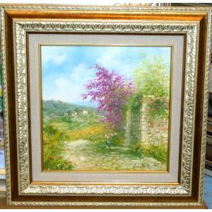 (定価200,000円)風景油絵 絵画 バラーロ 作 「イタリア・トスカーナの自然」 インテリア|dipint