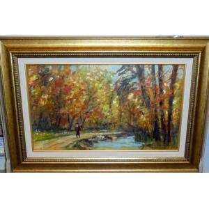 (定価650,000円)ヨーロッパ油絵 イレース(イタリア)「アマルフィ」インテリア 風景|dipint