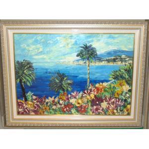 油絵 絵画 マルコ 作 イタリア風景・地中海 インテリア リビング dipint