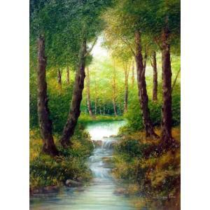 絵画 油絵 トルシ 「イタリア自然風景」リビング インテリア dipint