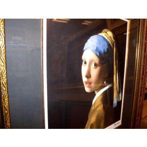 フェルメール 青いターバンの少女 名画絵画 ジグレ版画 47cm×54cm インテリア dipint 03
