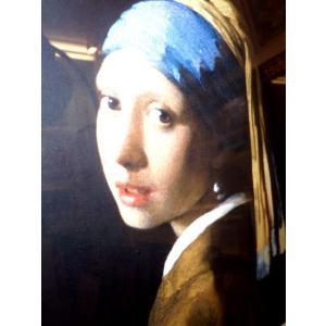 フェルメール 青いターバンの少女 名画絵画 ジグレ版画 47cm×54cm インテリア dipint 04
