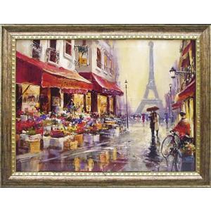 フランス風景 立体複製画 「エイプリル イン パリ」 モダン絵画 インテリア dipint