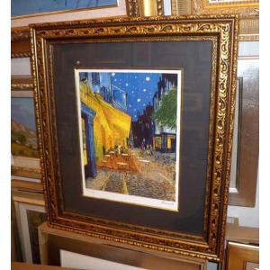 ゴッホ 夜のカフェテラス 名画絵画 ジグレ版画 47cm×54cm 壁掛けインテリア|dipint|02