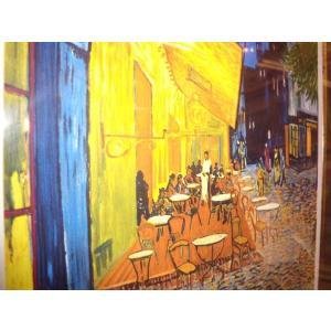 ゴッホ 夜のカフェテラス 名画絵画 ジグレ版画 47cm×54cm 壁掛けインテリア|dipint|04