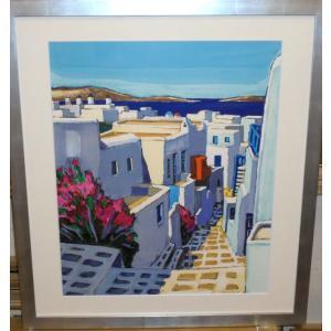 絵画 ラフレスキー 「エッフェル塔」 リトグラフ インテリア パリ風景|dipint