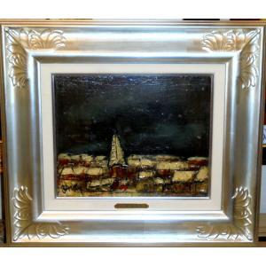 (定価350,000円)絵画 油絵 ダンティー(フランス) 作 「花」 風景画 インテリア リビング|dipint