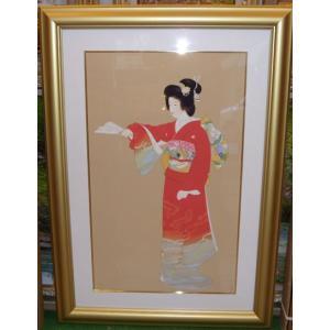上村松園 「序の舞」 シルクスクリーン版画 絵画 名画 インテリア|dipint