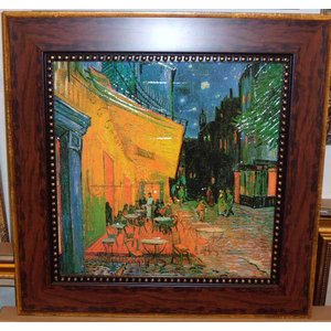ゴッホ 夜のカフェテラス 名画 立体複製画 絵画 55cm×55cm インテリア 御祝い|dipint