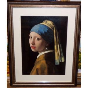 フェルメール 真珠の耳飾の少女 版画 絵画 名画 インテリア|dipint