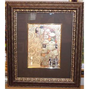 クリムト 抱擁 名画 ジグレ版画 絵画 額41cm×47cm|dipint