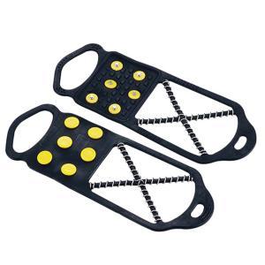簡易 アイゼン スノースパイク 靴底用滑り アイススパイク 止め 携帯 滑り止め 男女兼用 靴 くつ...