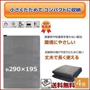 電気カーペット ホットカーペット 4畳 本体 暖房 ヒーター 足元暖房 ダニクリーン あったかグッズ 床暖房 左右全面切換 保温 約195×290cm