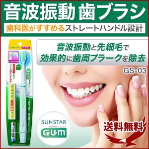 電動歯ブラシ ガム スティック音波振動歯ブラシ 電動 歯ブラシ GS-03 歯ぶらし 本体 持ち運び コンパクト 安い 振動 持ち歩き 携帯 ふつう|discount-spirits2