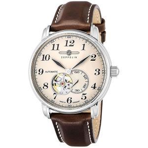 ZEPPELIN ツェッペリン 腕時計 LZ126 LosAngeles号 7666-5 ブラウン 並行輸入 ドイツ 2年保証付 旅客飛行船 discount-square