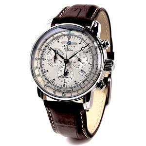ZEPPELIN ツェッペリン 腕時計 100周年記念モデル アイボリー×ブラウン 7680-1 並行輸入 ドイツ 1年保証付 discount-square