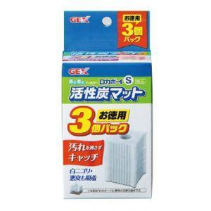 GEX ぶくぶくフィルター ロカボーイS 活性炭マット お徳用3個パック  交換ろ過材 水中フィルター|discountaqua2