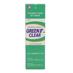 日動 グリーンF クリアー 120ml 液体タイプ 白点病治療薬 無色透明 鑑賞魚用 魚病薬 discountaqua2