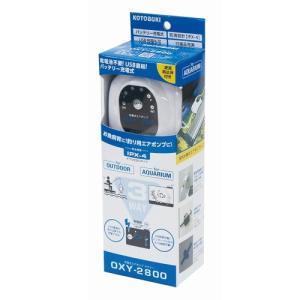 新発売 コトブキ 充電式エアポンプ オキシー 2800 エアーポンプ ダブルタイプ|discountaqua2