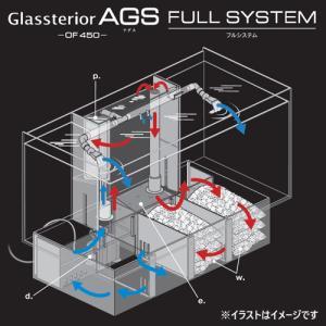 GEX グラステリア アグス ブラック OF-450 オールガラス オーバーフロー水槽 LEDライト付 淡水・海水両用 GlassteriorAGS OF450 discountaqua2 03
