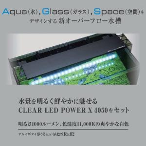 GEX グラステリア アグス ブラック OF-450 オールガラス オーバーフロー水槽 LEDライト付 淡水・海水両用 GlassteriorAGS OF450 discountaqua2 04