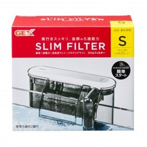 GEX スリムフィルターS 専用ろ過材2コ付 淡水海水両用 流量調節可能 水槽用 外掛けフィルター|discountaqua2