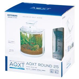 コトブキ アクスト ラウンド 25 AQXT ROUND 25 水槽+フィルター+LEDライトのセット 淡水・海水両用 ガラス水槽 小型水槽 discountaqua2