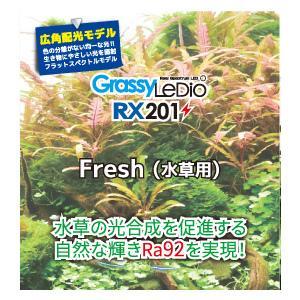 新商品 ボルクスジャパン グラッシーレディオ RX201 フレッシュ 淡水用 水草 LEDライト|discountaqua2