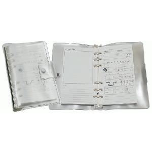 コンパクトクリアログブック6穴式[リフィル10枚付]|discovery-jp